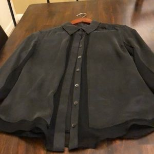 Black Equipment blouse
